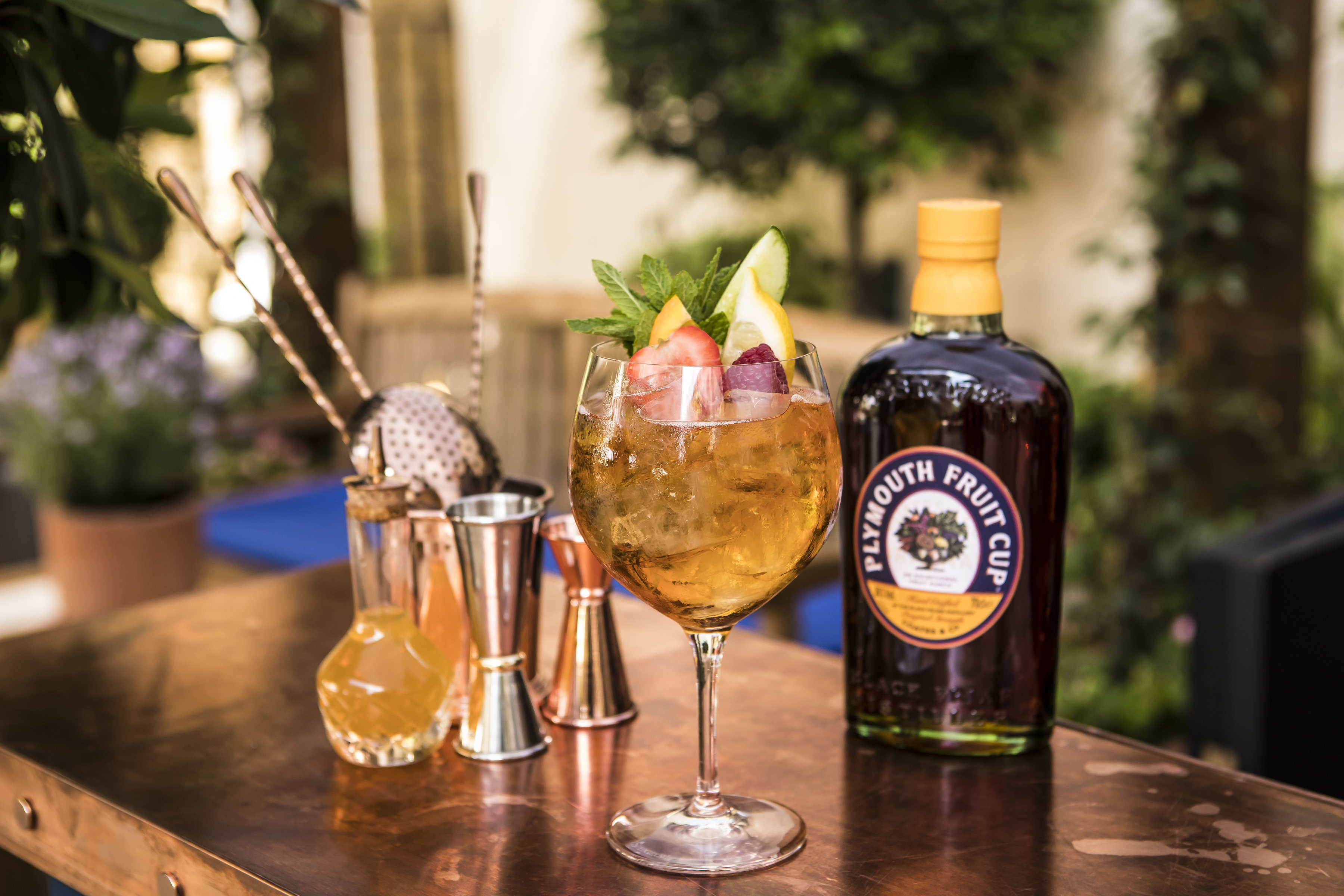 Plymouth Gin Garden at The Langham June 2018